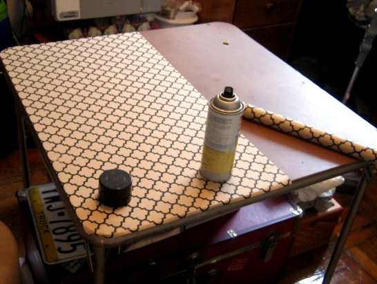 card table upcycle | photography instead of arson